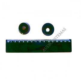 Boton potenciometro ROT negro T1951, T1952, T1953...anillo. (01920)