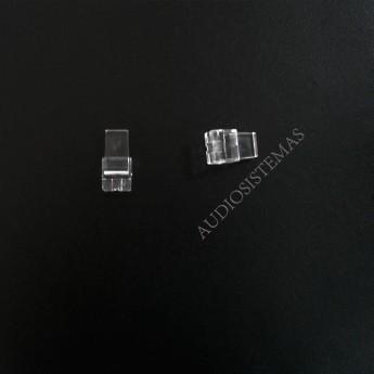 Boton pulsador transparente. (25766)