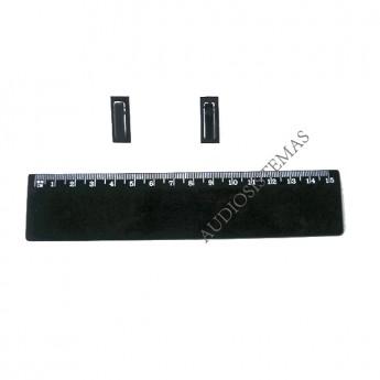 Boton pulsador DSP 8024/9024 negro. (01683)