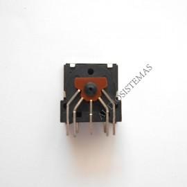 Conector DIN 5 pin hembra chasis circuito impreso (03132)